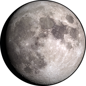 Waxing gibbous moon phase