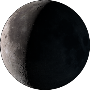 Waning crescent moon phase